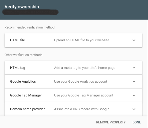 Google Webmaster Tool- Verify Ownership